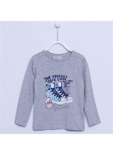 Silversun Kids Erkek Çocuk Baskılı Tişört - Bk 210174 Gri